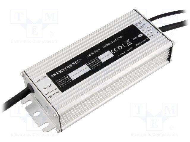 Fuente de alimentación  impulso; LED; 75w; 13 ÷ 27v; 2800ma; 90 ÷ 305vac; ip67; 88% [1 St]