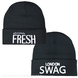 Details About Beanie Hat Black Slouch Hat Fresh Swag Dope Mens Girls Boys Womans Beanie Hat