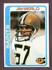 1978 Topps Jim Merlo #98 Football Card
