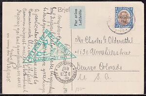 Image Is Loading Zeppelin Flight Post Card From Iceland To Usa