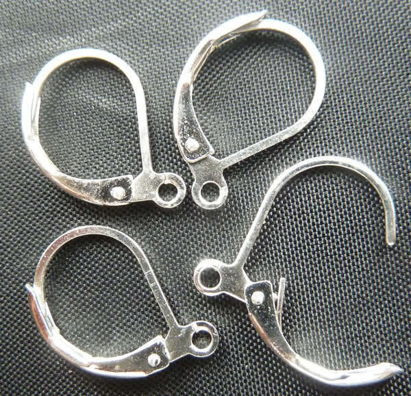 Free Shipping 300pcs silver plated earring clasps 17x11mm