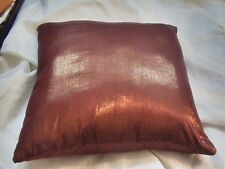 """22"""" copper brocade shimmer pillow case sofa chair cushion cover solid 55 cm"""