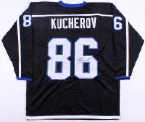 outlet store 99172 8e529 Details about Nikita Kucherov Signed Black Tampa Bay Lightning Jersey (JSA)  All Star Winger