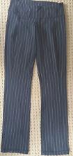 LULULEMON Black &  White PinStripe Yoga Pants with Belt Loops size 6 EUC Gym