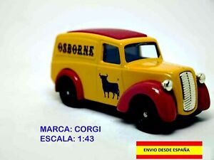CORGI-ESCALA-1-43-CAMIONETA-MORRIS-Z-VAN-DE-OSBORNE-COLECCIoN-VINTAGE-METAL
