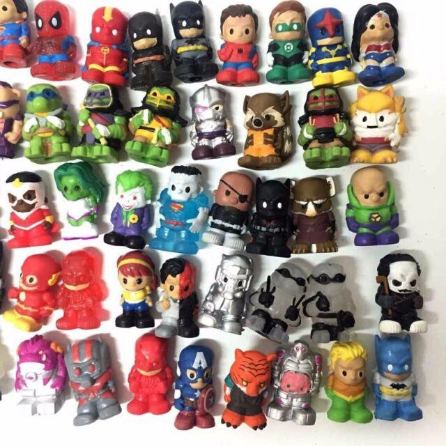 Ooshies Lot Random 10PCS DC Comics//Marvel//Disney//TMNT Pencil Toppers Figure Toy