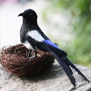 Pair-Realistic-Artificial-Bird-Parrot-Garden-Home-Decor-Tree-Decor-Ornament