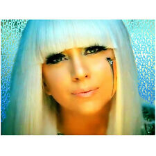Lady Gaga Head Shot with Blonde Hair Looking Amazing 8 x 10 Inch Photo