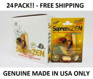 24x SupremeZen Gold 3500 Male Sexual Performance Enhancement Pill