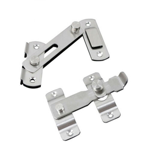 Stainless Steel Buckle Bolt Shed Home Door Lock Latch Hasp Sliding Buckle IT