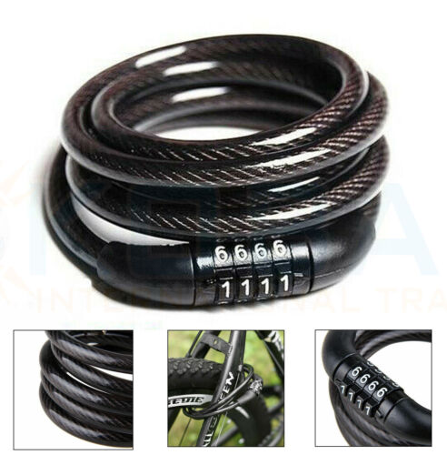 COMBINATION BIKE CABLE LOCK BICYCLE HEAVY DUTY THICK CYCLE SECURITY BIKE 1000mm