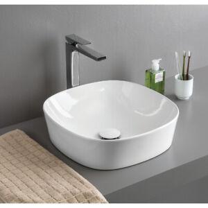 Détails sur Lavabo à poser salle de bain Lave-mains modèle Ghost 42 en  diverses couleurs