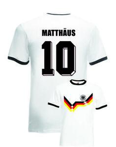 Lothar Matthaus Germany No.10 Italia 90 Mens Football Ringer T-Shirt ... 3d87f11d7