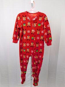 a99bb9424 Family PJs Holiday Fleece Christmas Reindeer Zipper Footed Pajamas ...