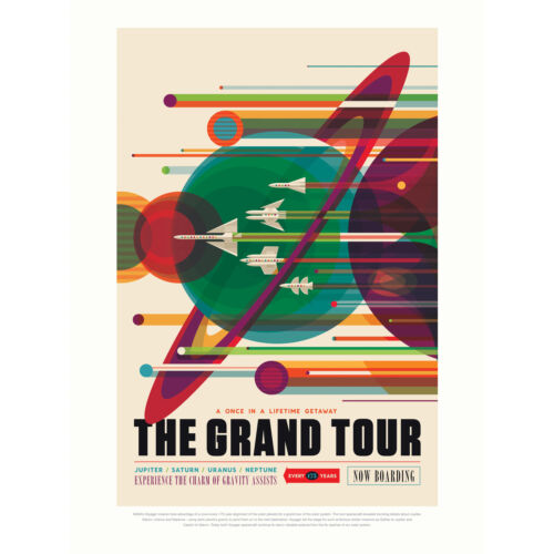 NASA Space Travel Advert Grand Tour Large Wall Art Print 18X24 In