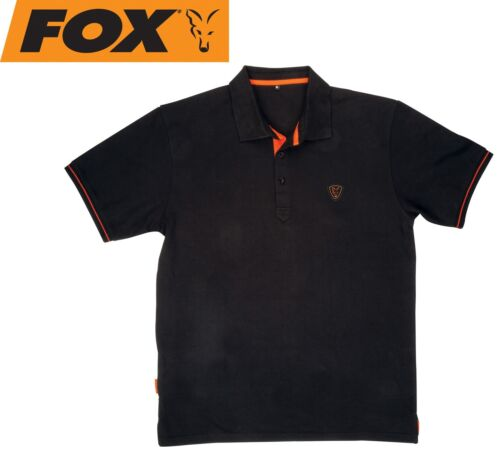 Orange Polo Shirt Poloshirt Fox Black Angelbekleidung Angelshirt