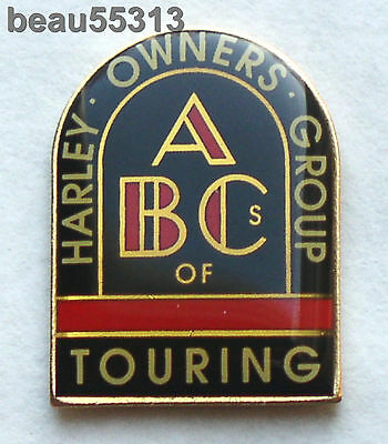 HARLEY DAVIDSON OWNERS GROUP HOG ABC's OF TOURING JACKET LAPEL HAT VEST PIN