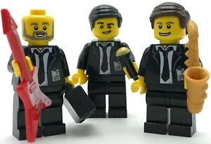 Lego-3-Neuf-Bande-Members-Chantant-Groupe-Guy-avec-Ies-Hommes-D-039-Affaires