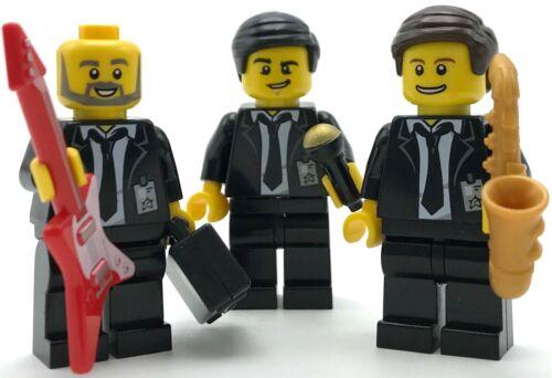 Lego 3 Nuovo Fascia Membri Canta Gruppo di Guy con Ies Businessmen Sassofono Più
