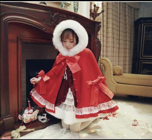 Manteau cape douce laine princesse bowknot manteau fille Lolita en de S268 manteau japonaise d'hiver raw5xPrfq