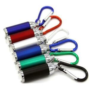 Mini LED Torch Flashlight Camping Small Compact Portable Keyring Carabiner WP