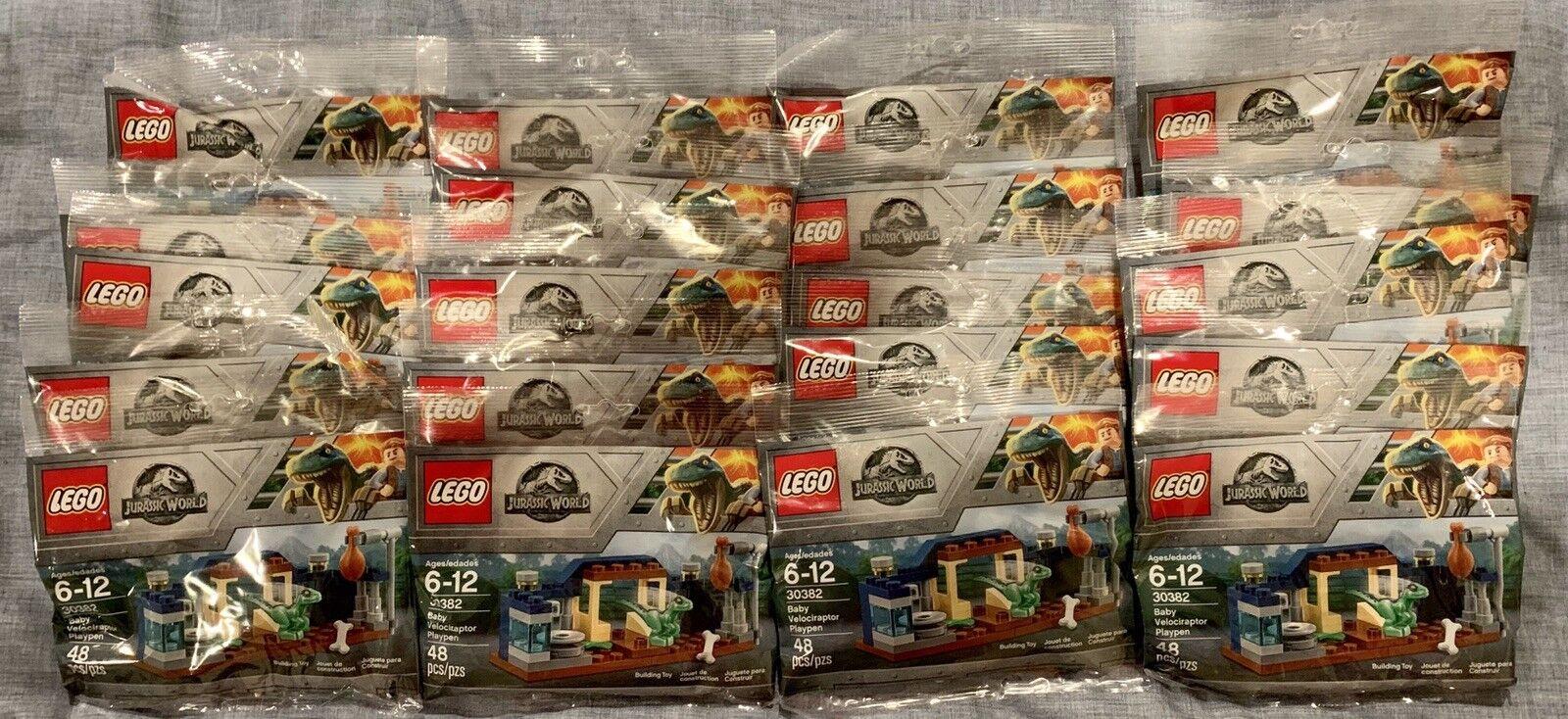 Lego Jurassic World 30382 bébé VELOCIRAPTOR Parc polybag-Lot de 20 jeux NEUF