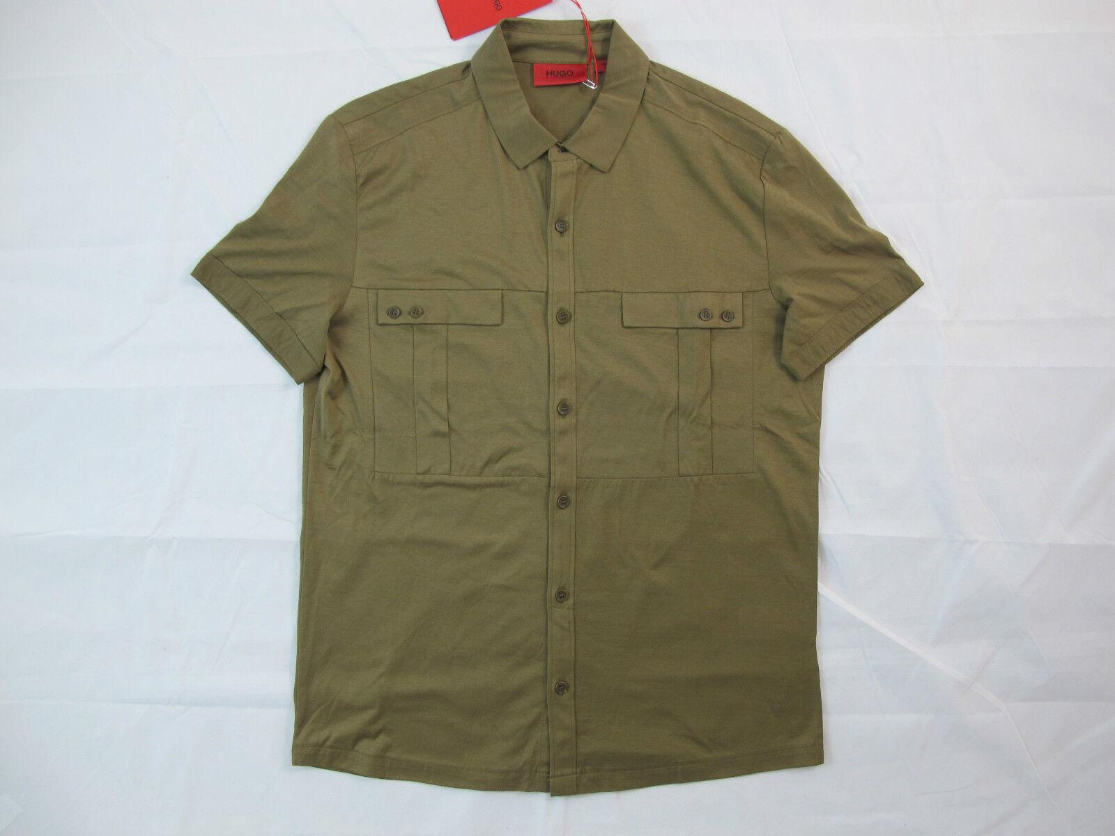 Hugo Boss ROT Tag Braun Classic Button Down Shirt Sz. S BNWT 100% Authentic