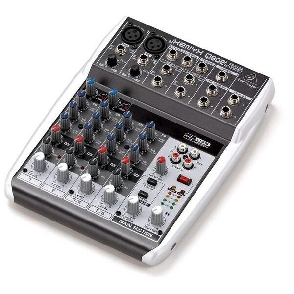 Behringer Xenyx Q802USB 8 Ingresso 2 Bus Piccola Formato Live Studio Mixer Mixer