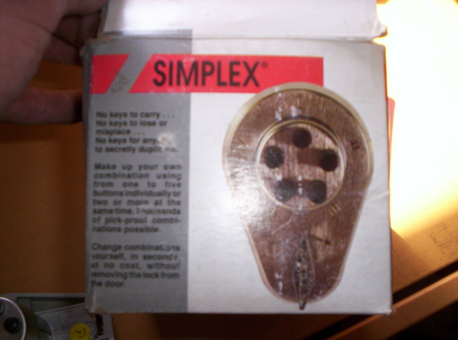 NEW SIMPLEX PUSHBUTTON DOOR CONTROL LOCKSET SATIN CHROME 9040000-26D-41