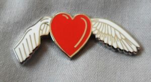 NEW-Stroke-Awareness-Remembrance-Angel-red-enamel-badge-brooch-Charity