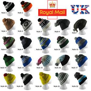 Pom Pom Hat Cap Knit Winter Beanie Men s Women s Bobble Cap ... b1094b79c8a