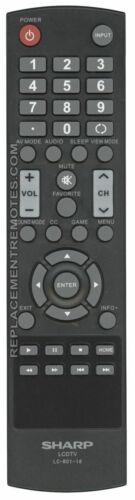 LC42LB150U LC42LB261U NEW SHARP Remote Control for LC32LB480U LC40LB480U