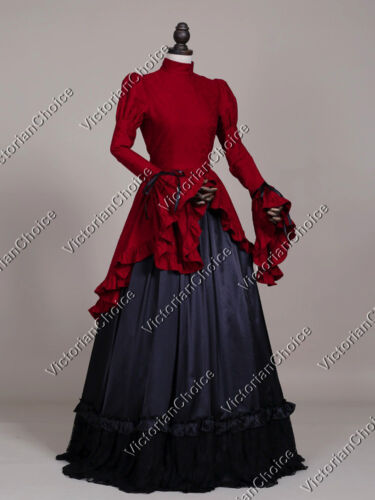 Victorian Dresses, Capelets, Hoop Skirts, Blouses    Victorian Edwardian Downton Abbey Dress Ball Gown Steampunk Theater Clothing 324  AT vintagedancer.com