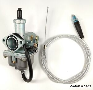 Carburetor /& Throttle Cable For Honda ATC185 ATC185S ATC200 ATC200S ATC200X