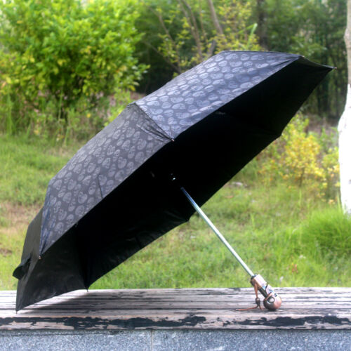 McQueen Skull Kito Automatic Three Folding Sun//Rain Umbrella MCQ Anti-UV Parasol