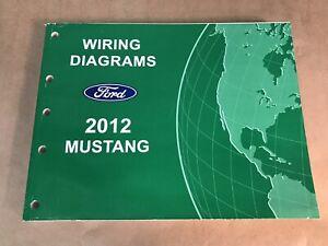 2012 Oem Ford Mustang Diagramas De Cableado Manual Del Taller Libro De Servicio Original Ebay