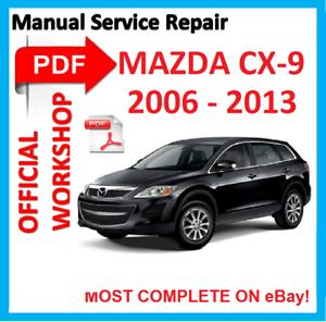 official workshop manual service repair for mazda cx 9 cx9 cx 9 2006 rh ebay com 2008 mazda cx 9 workshop manual Mazda CX -3
