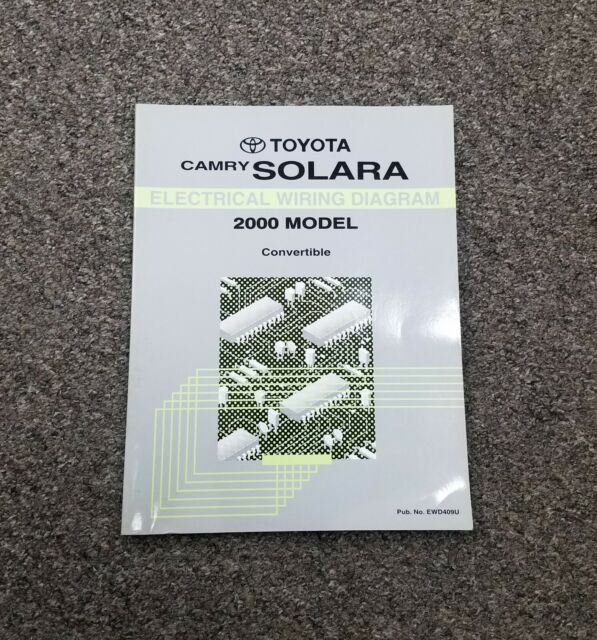 2000 Toyota Camry Solara Electrical Wiring Diagram Manual