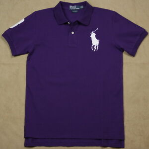 443b9e7a New Ralph Lauren Polo Shirt Men Custom Fit White Big Pony No 3 ...