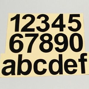 Set Selbstklebende Zahlen Buchstaben Aufkleber Hausnummer