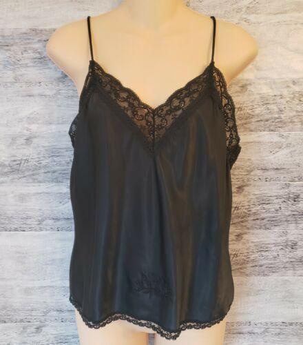 Vintage Medium Christian Dior Black Lace Camisole