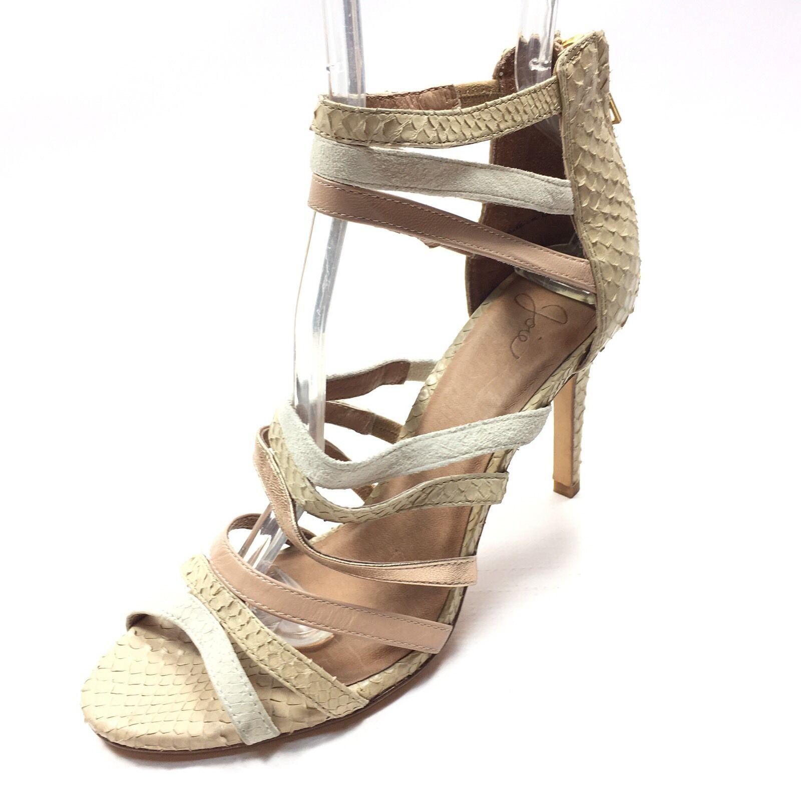 economico e alla moda Joie Joie Joie Zee High Heel Stiletto Beige Multi Leather Suede Sandals Donna  Dimensione 36 M  prendiamo i clienti come nostro dio