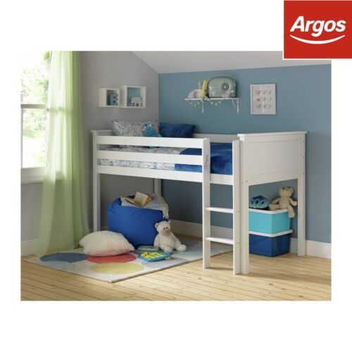 Argos Home Brooklyn White Wooden Mid Sleeper Bed Frame