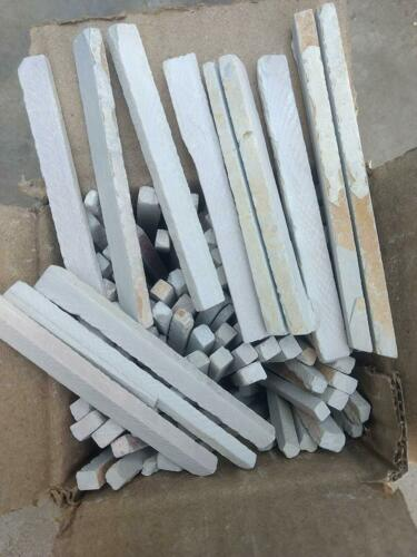 White Slate Pencils Stone Chalk Natural Stone 40 to 45 In One Box