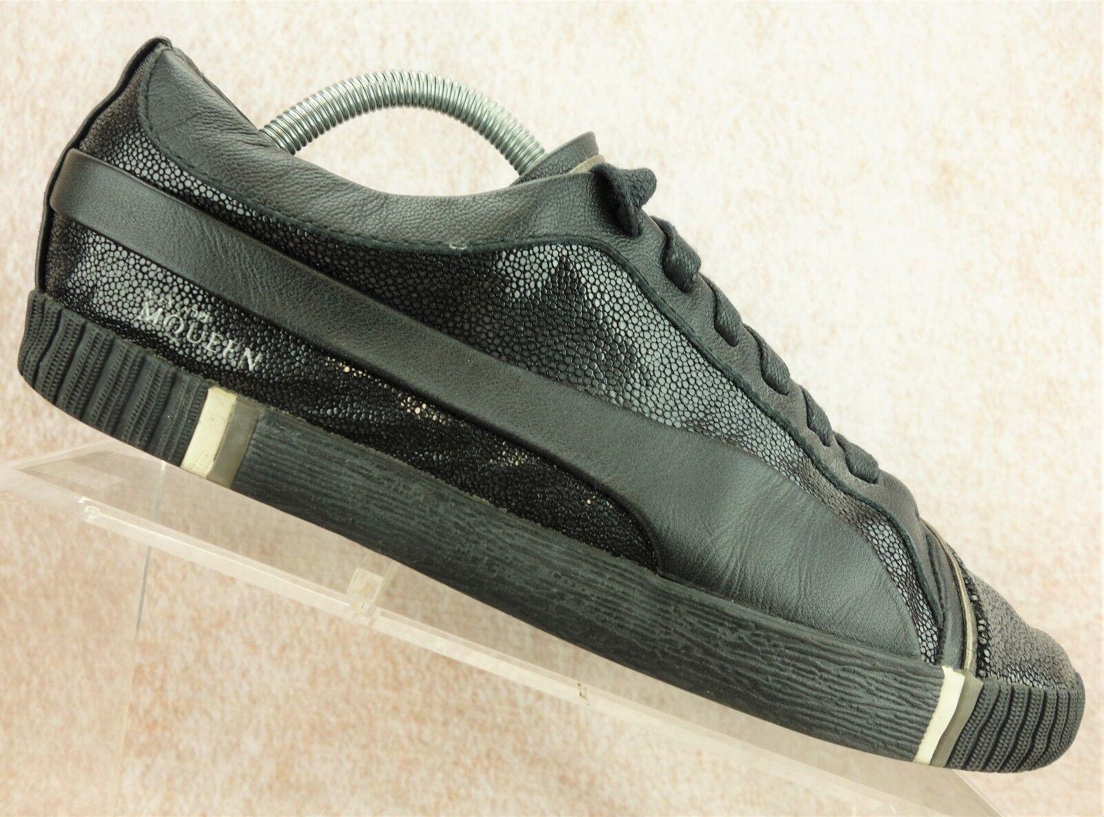 Alexander McQueen Puma noir Leather Casual Walking Sneaker hommes Chaussures hommes Sneaker a734ad
