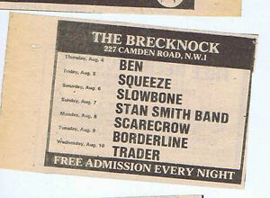 Details about SQUEEZE / SLOWBONE / STAN SMITH / TRADER press clipping 1977  (6/8/77) 9X6cm