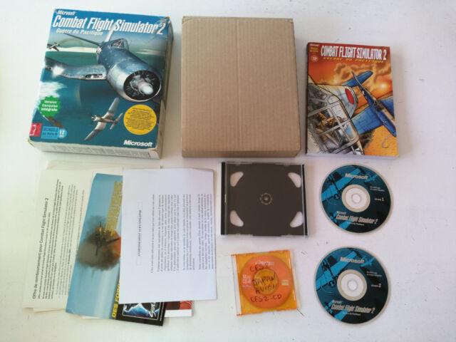 Combat Flight Simulator 2 + addon combat squadron PC Big box boite carton FR