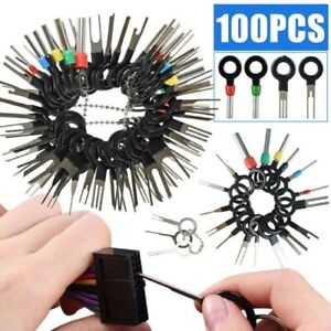 100pcs Set Pin Ejector Wire Kit Extractor Auto Terminal Removal Connector