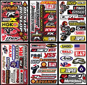 NEW-Race-Logo-Stickers-Motorcycle-Dirt-Bike-Truck-Tank-Motocross-MOTO-MX-Decals
