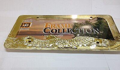 PLAIN GOLD    METAL LICENSE PLATE FRAME  LPF-825K